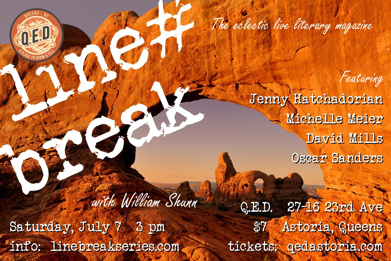 Line Break #20: Saturday, July 7, 2018, 3:00 p.m.