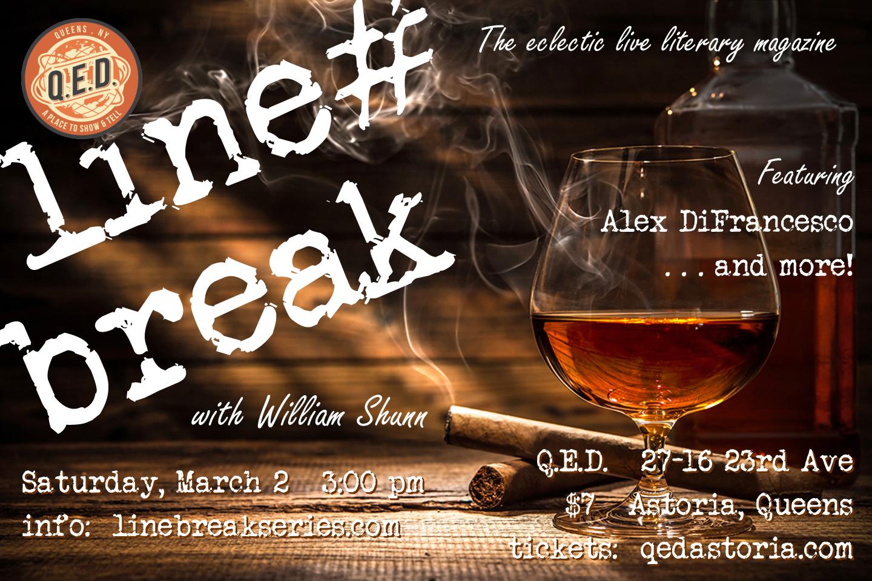 Line Break #28: Saturday, March 2, 2019, 3:00 p.m.
